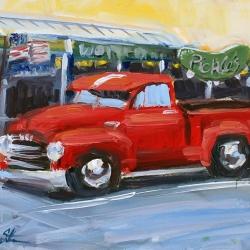 classic truck in seaside