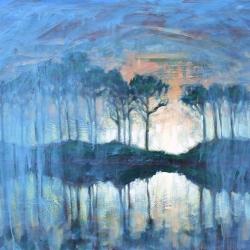 dusk at western lake 2014