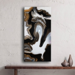 No.164-abstract-resin-art-white-black