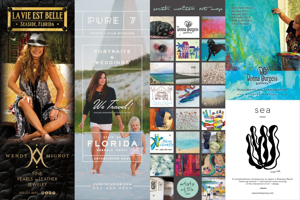 2016 artists of 30A gallery map