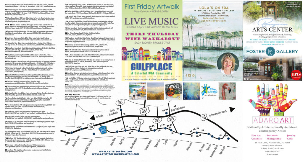 2018 South Walton Art Map