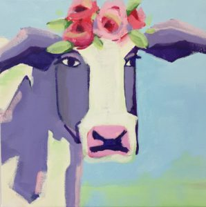 Groovy Grayton Cow Painting Class at CHROMA