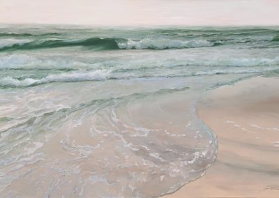 Rolling Emerald Surf, 30x48 Oil