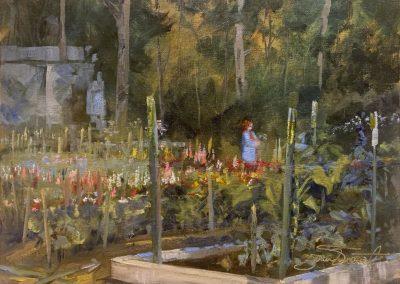 The Gardener, 11x14 Oil