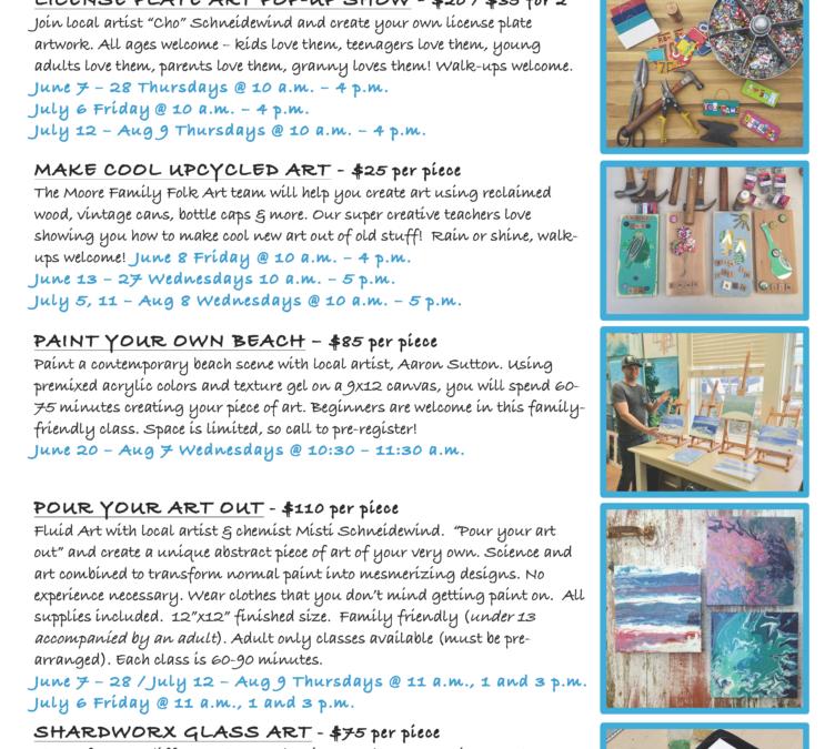 Creative classes at The Blue Giraffe!