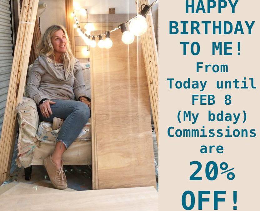 20% Off Custom Orders by Allison Wickey
