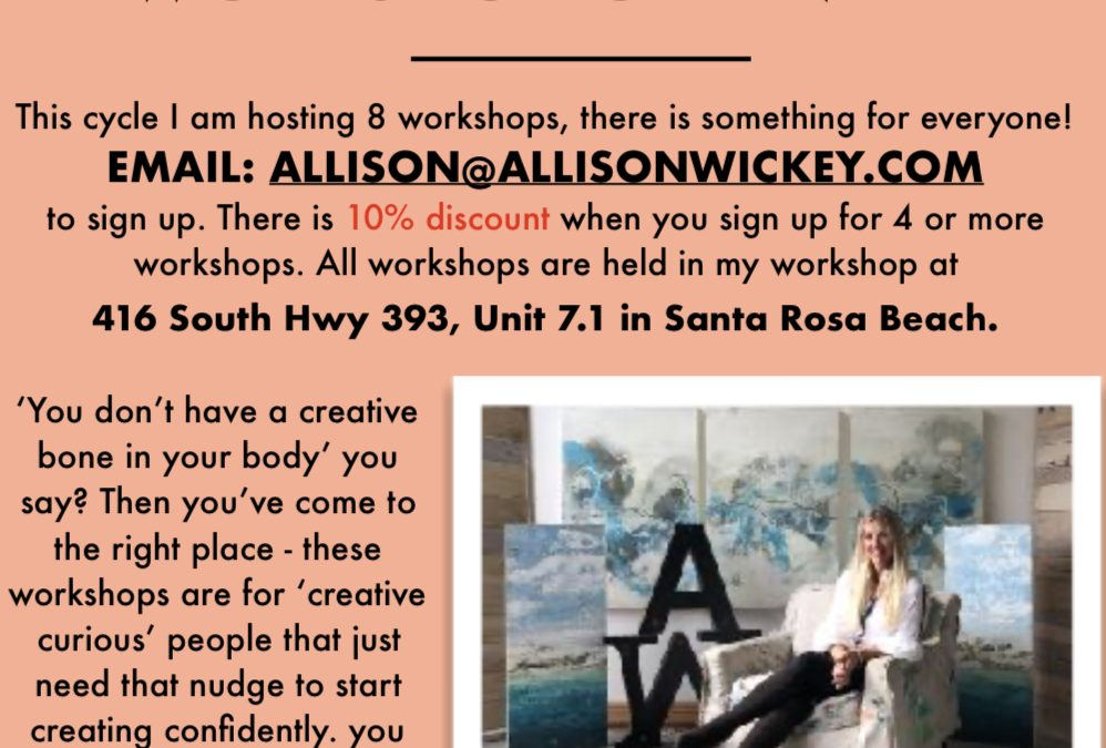 Spring 2020 Workshops with Allison Wickey